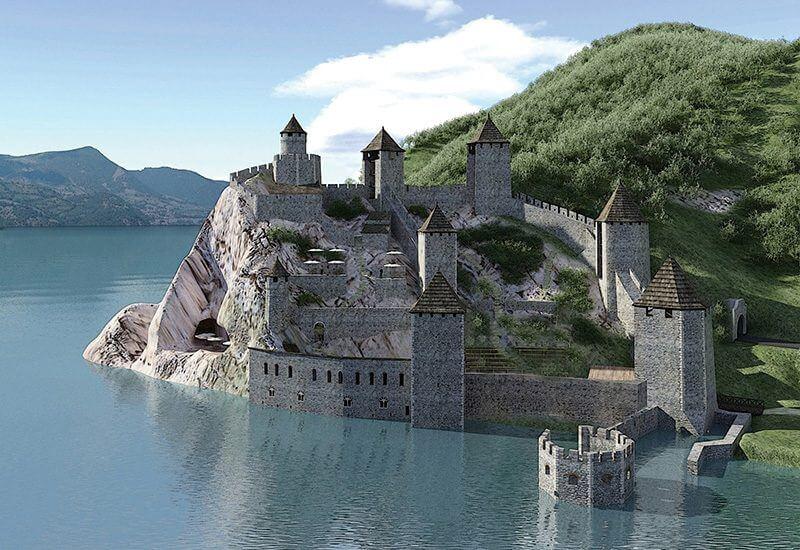 Fortaleza de Golubac en el Danubio