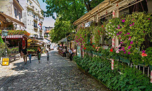 Skadarlija barrio bohemio de Belgrado
